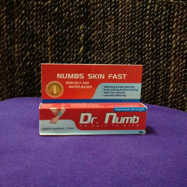 Numbing Cream For Dermaroller Tattoo Procedure