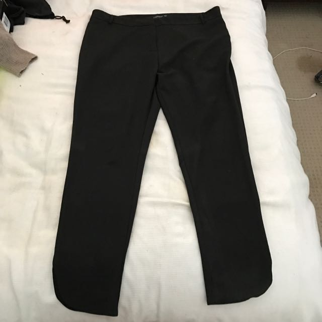 Peter Morrissey Black Work Pants. Size 14.