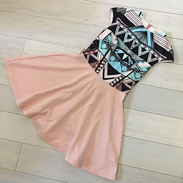 Pink Print Dress