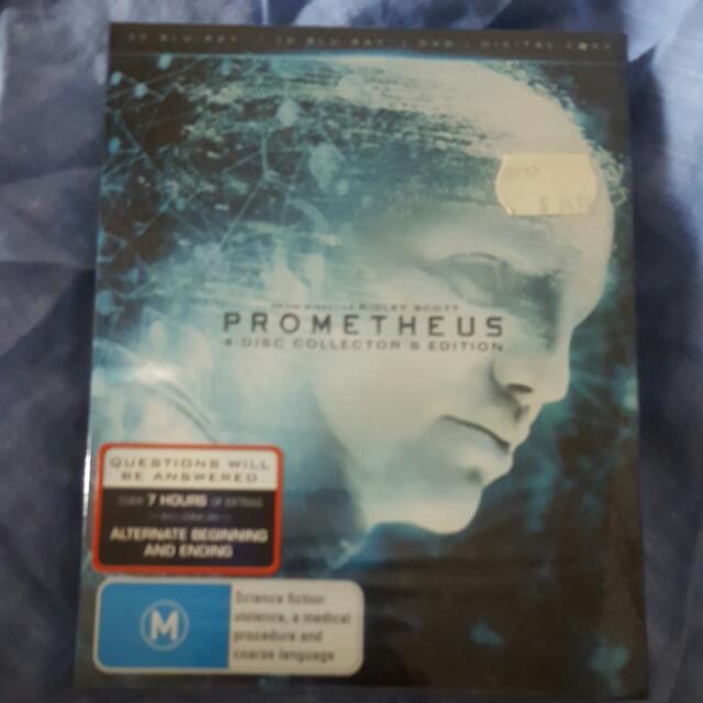 Prometheus 4 Disc 3D Blu Ray