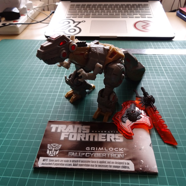 RARE Transformers Generations Fall of Cybertron Grimlock Complete Loose