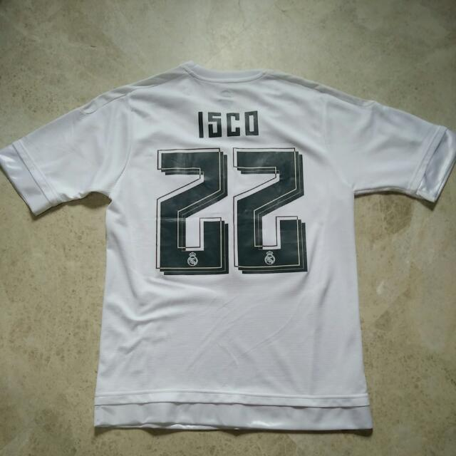 233196d07 Real Madrid 15 16 Home Jersey W  ISCO   22 Printing