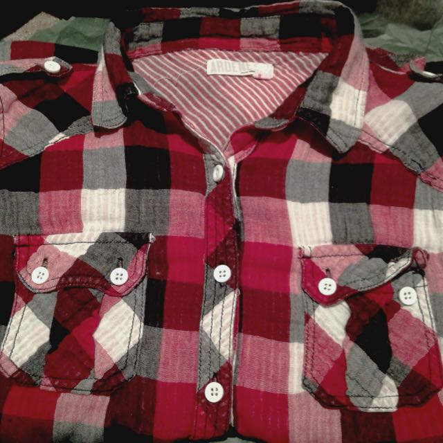 Red Flannel Top