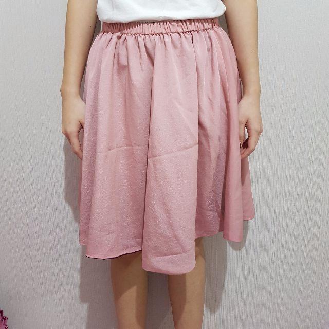Reversable skirt pink-ungu