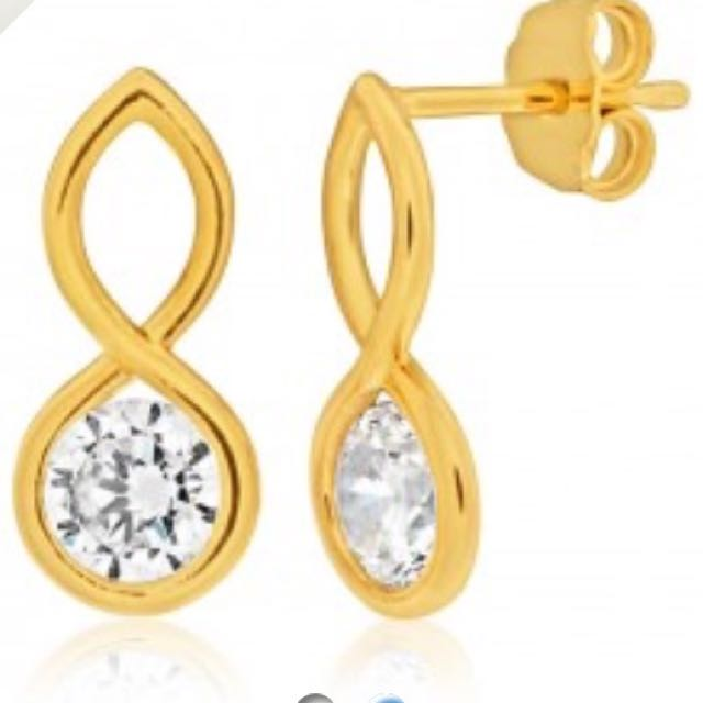 Shiels 9ct Yellow Gold-filled Earrings (Brand New)