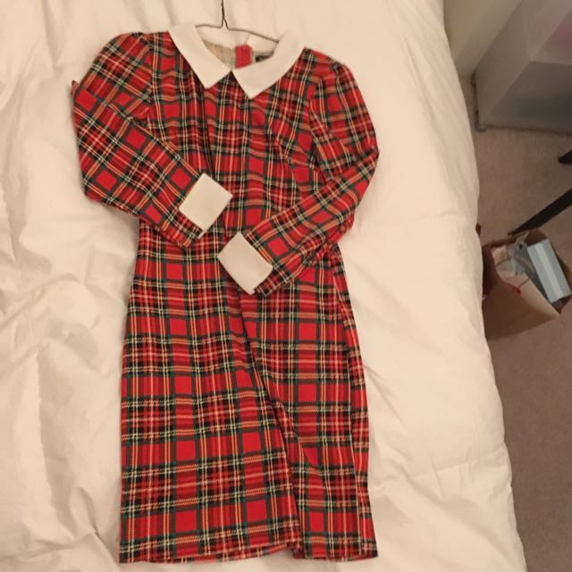 Size Small Plaid Mini Dress