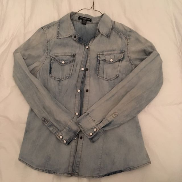 Soft Blue Button Up Size Small