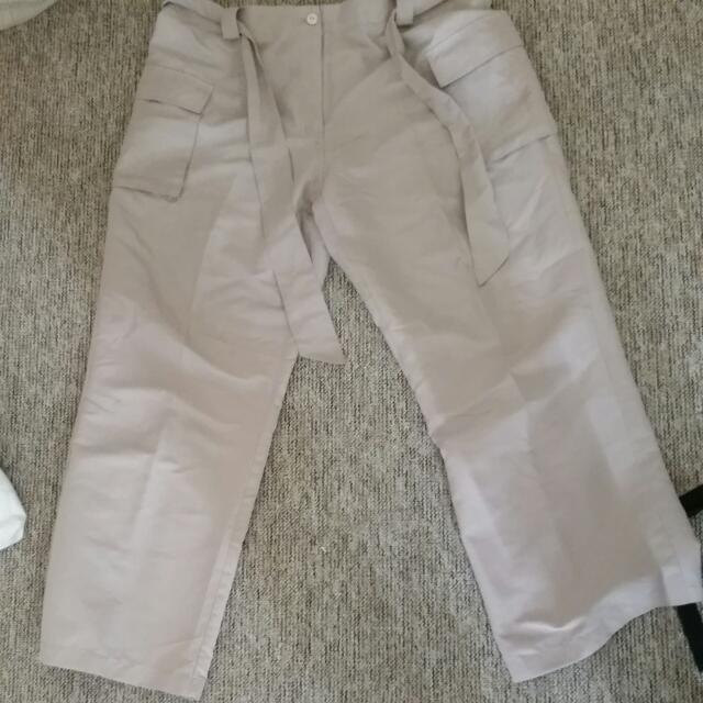 Soft Draw String Cargo Pants