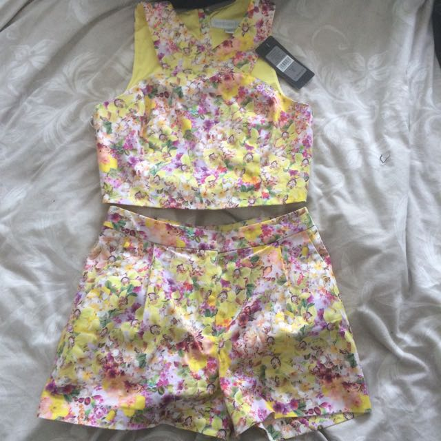 Summer Forever New Floral Two Piece