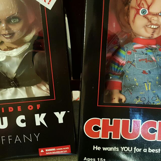 talking chucky and tiffany dolls 200ea toys games collectibles