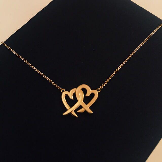 b0d247f4f BRAND NEW Tiffany & Co Paloma Picasso Loving Heart Interlocking Pendant,  Luxury, Accessories on Carousell