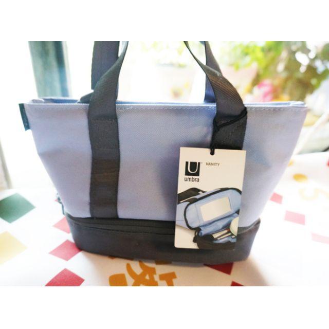 UMBRA 旅行收納小手提包 紫 (手提包/化妝包/鏡子/收納)