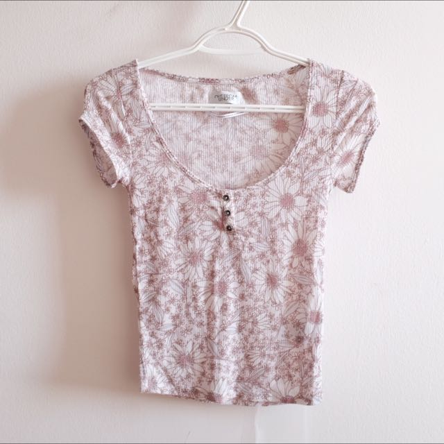 Urban Outfitters Flower Print Top