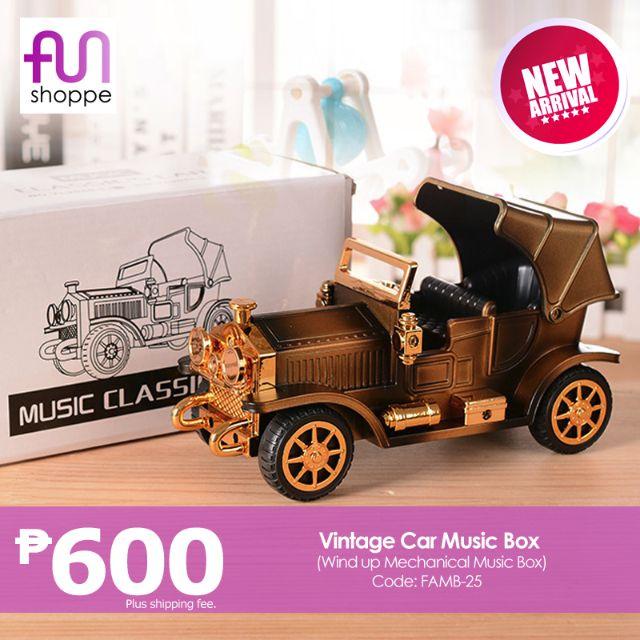 Vintage Car Music Box