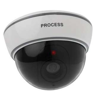 Fake Dummy Dome CCTV - White/Black