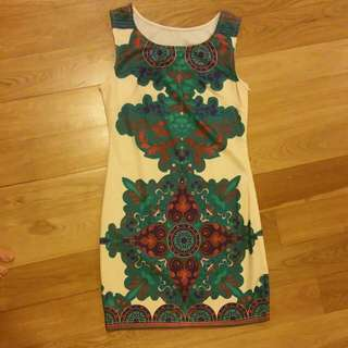 CNY Paisey Print Dress
