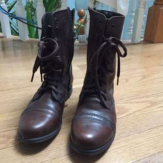 Steve Madden Troopa Combat Boots Size 7.5