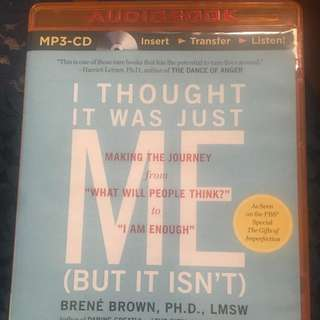Brene Brown Audiobook I Thought It Was Just Me But It Isn't Self Help Louise Hay Gabrielle Bernstein