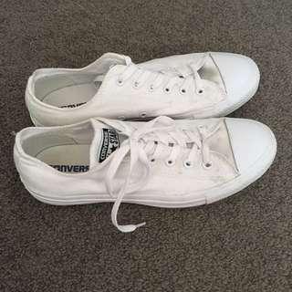 Plain white Converse chucks