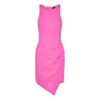 Cue Fairground Dress In Pink Size 12