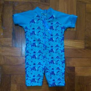 Watercolors Baby Swimsuit Size 1