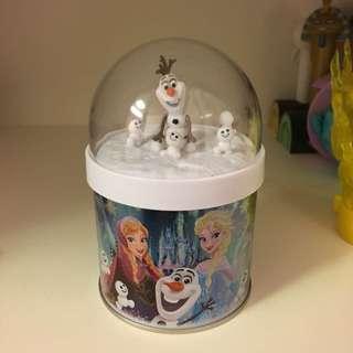 正版東京迪士尼超可愛雪寶糖果罐餅乾罐