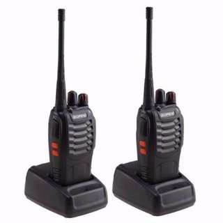 2 Piece Walkie Talkie Walkie Talkies Intercom with High Capacity Battery 2800mah