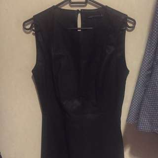 Zara Black Mini Leather Dress