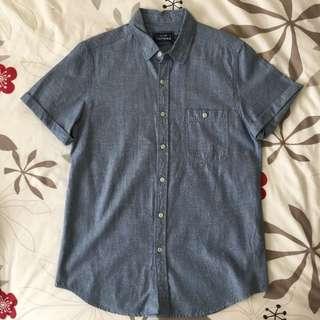 Topman Textured Short Sleeve Shirt