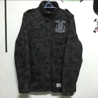 B - Side 暗色迷彩軍裝外套