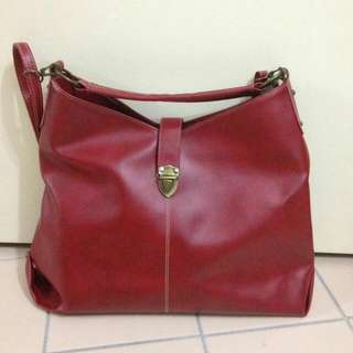 Red Shoulder Or Sling Bag