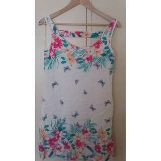 Jeanswest Butterfly floral printed dress NWOT