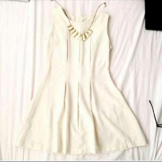 [NEW] White Beige Dress