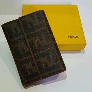 AUTHENTIC FENDI ZUCCA PVC COATED CANVAS WALLET