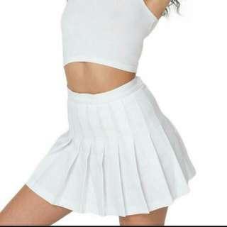 American Apparel INSPIRED Tennis Skirt In White