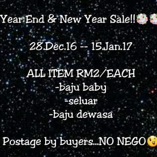 Year End & New Year Sale😁😁😁😁