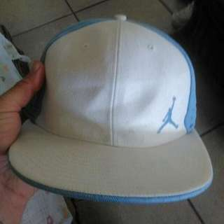 Air Jordan XXI Rare Limited Edition Hat 7.5 Size 7 1/2 Baby Blue Sky Blue And White Snapback 7nhalf Cap Brought In LAS VEGAS AirJordan Nike Snap Back
