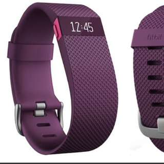Large Purple Fitbit HR Charge