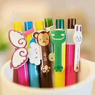 聖誕小禮物 可愛動物造型原子筆, 一套6款