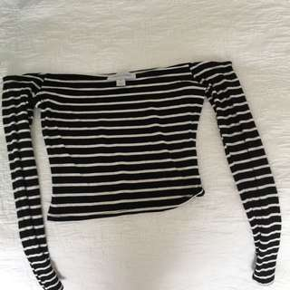 Brand New Without Tags Long Sleeve Off The Shoulders Middy (Size 8)