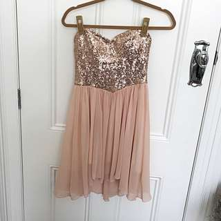 Arden B Rose Gold Dress