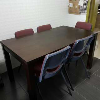 A Solid Table With 5 Chairs For Sale. All For $50.