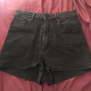 Black High Rise Shorts