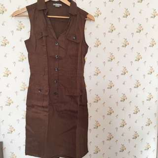 Dress H&M Cokelat