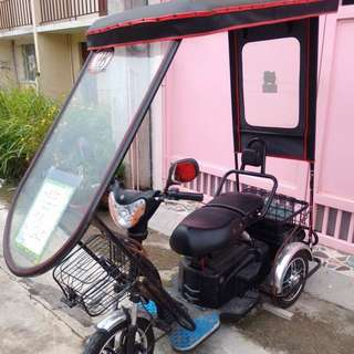 3-wheel ebike with roofing for RUSH Sale! As Is Where Is
