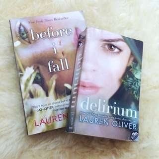 Lauren Oliver Books: Before I Fall & Delirium
