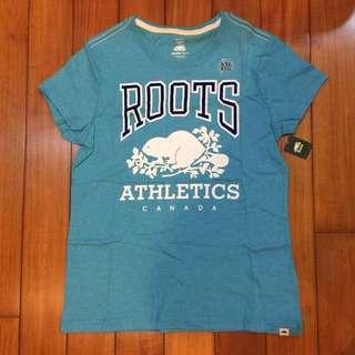 (新品出售) 加拿大ROOTS KIDS 經典海貍圖騰短袖T恤