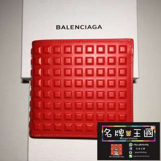 [全新] BALENCIAGA Studs Leather Wallet [17新款]