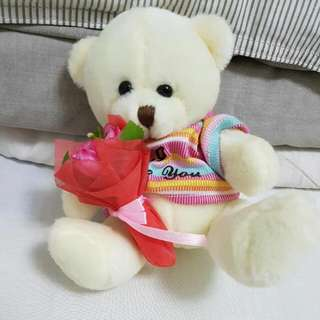 Small I Love You Teddy Bear Gift.