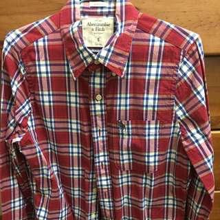 A&F格子襯衫